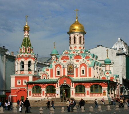 The Kazan cathedral on Red Square