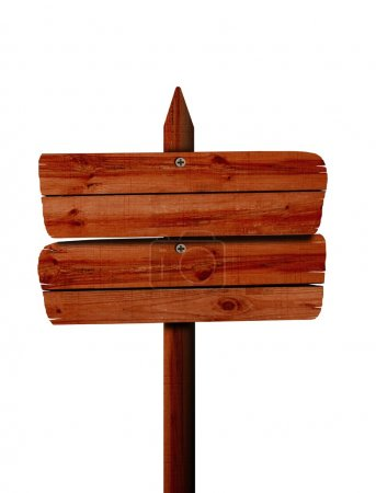 Photo pour Panneau en bois vierge - image libre de droit