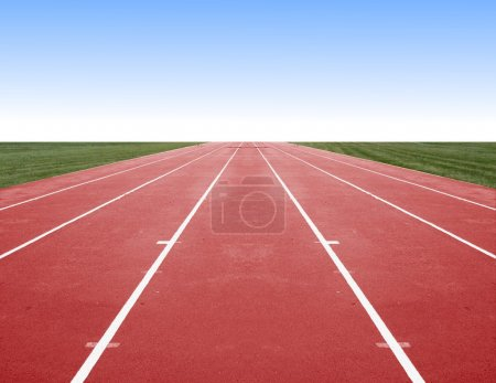 Photo for Empty running Track - Royalty Free Image