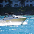A small twin outboad engine powered fishing boat s...