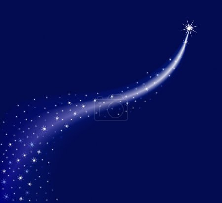 Illustration for The star way at the dark background. - Royalty Free Image