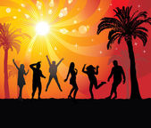 Disco evening in the paradise