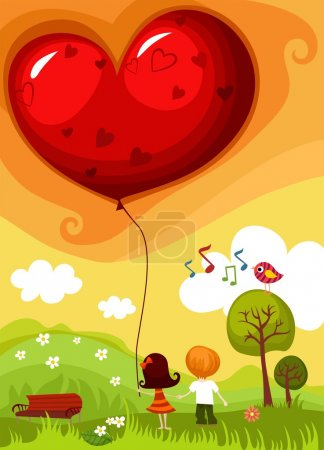 Photo for Vector illustration of a Valentine card - Royalty Free Image
