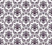 Damask seamless vector pattern For easy making seamless pattern just drag all group into swatches bar and use it for filling any contours