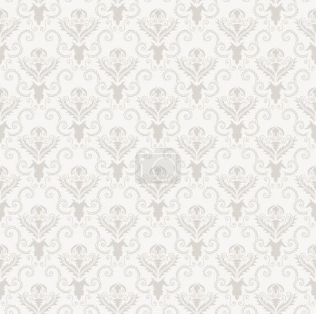 Illustration for Damask seamless vector pattern. For easy making seamless pattern just drag all group into swatches bar, and use it for filling any contours. - Royalty Free Image