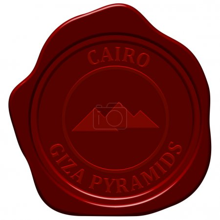 Pyramids stamp