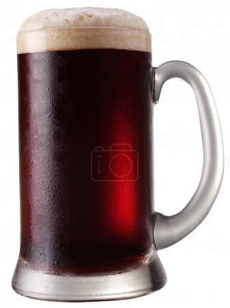 Frosty mug of beer. File contains a path to cut.