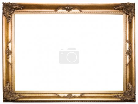 Beautiful old frame isolated on a white.