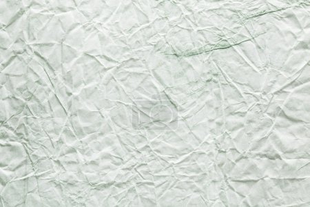 Texture image crumpled white - green paper.