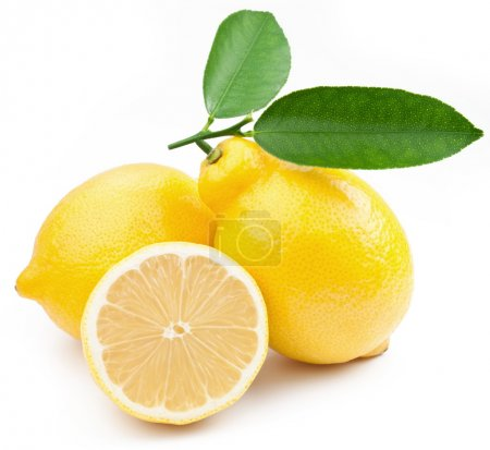 Photo for High-quality photo ripe lemons on a white background - Royalty Free Image