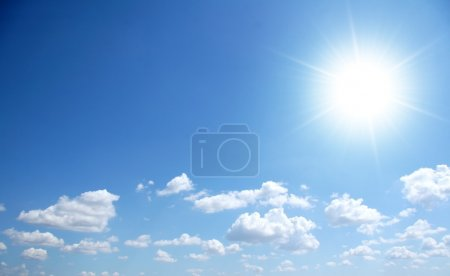 Photo for Bly sunny sky with small clouds - Royalty Free Image