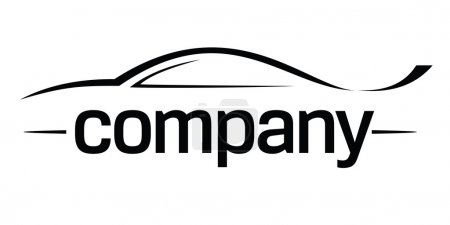 Illustration for Modern fast car symbol. - Royalty Free Image