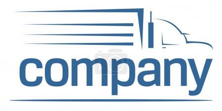 Photo pour Logo de l'entreprise transport marchandises grande ou déménageurs - image libre de droit