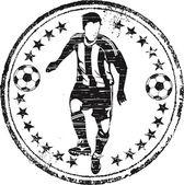 Soccer player stamp