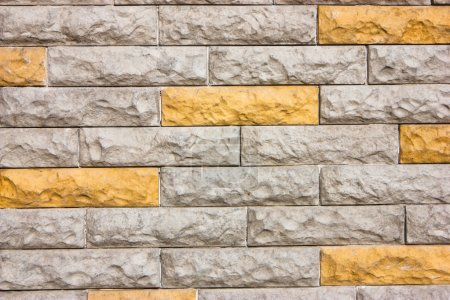 Cheerful brick wall