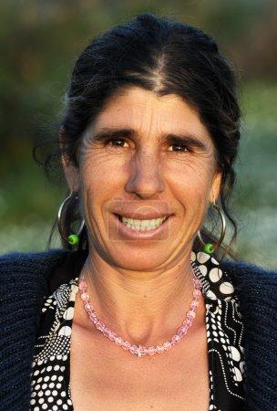Portrait of a happy gypsy lady