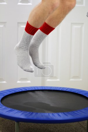 mini trampoline jumping