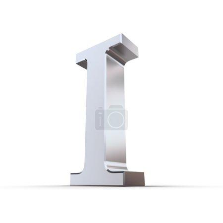 Metallic Roman Numeral 1