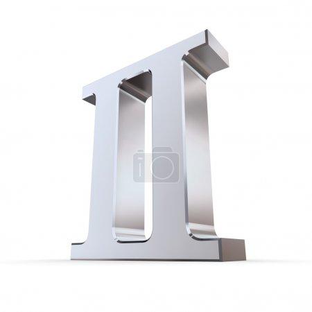 Metallic Roman Numeral 2