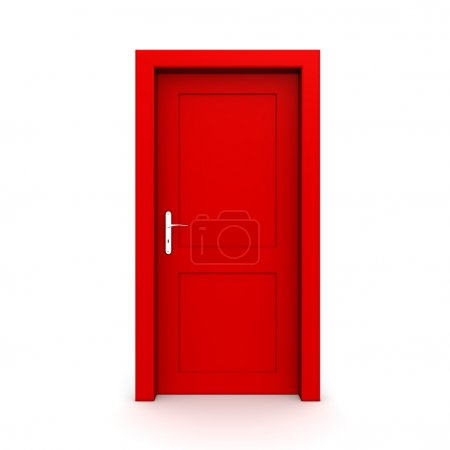 fermé la porte rouge simple