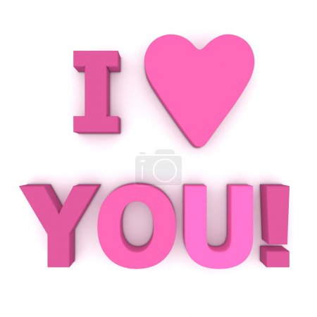 I Love You in Pink and Purple - Square