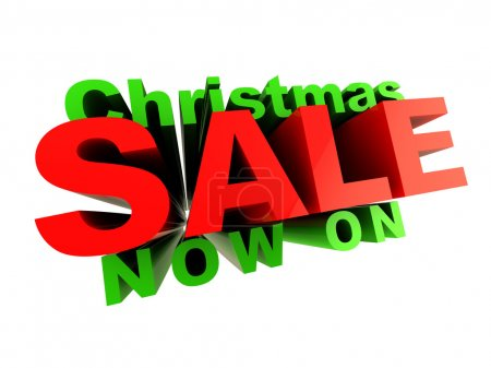 Photo for 3d illustration of Christmas sale sign, isoalted over white - Royalty Free Image