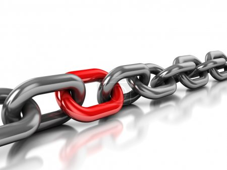 Chain with one red link