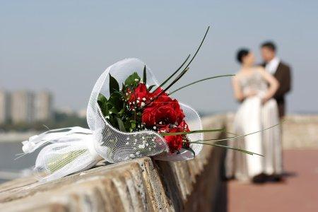 Photo pour Couple de mariage - image libre de droit