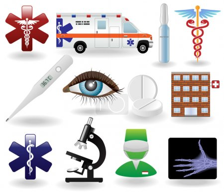 Medical icons and symbols set