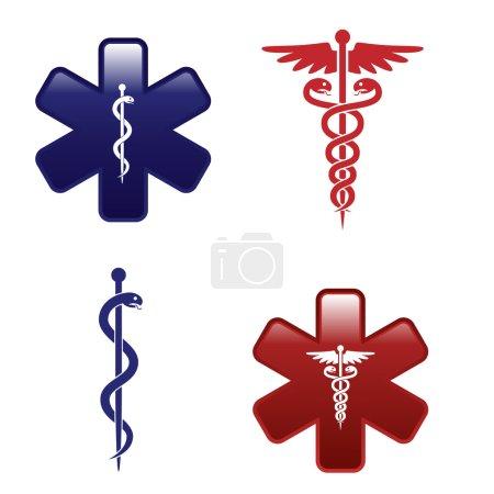 Illustration pour Jeu de symboles médicaux - image libre de droit