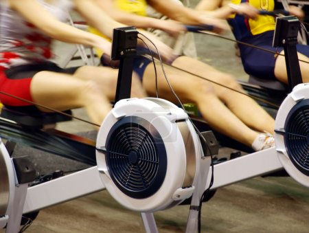 Women exercising in the gym.