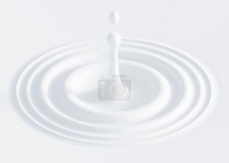 Photo pour Illustration 3d de la goutte de lait - image libre de droit