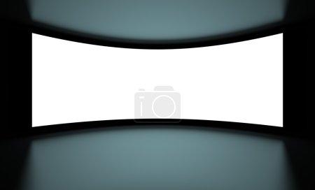 Photo pour Illustration 3D de fond blanc Screenon noir - image libre de droit