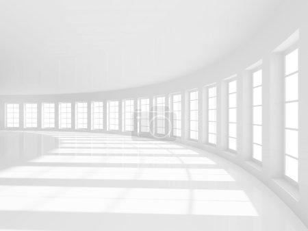 Photo pour 3D illustration d'arrière-plan abstraite salle vide - image libre de droit