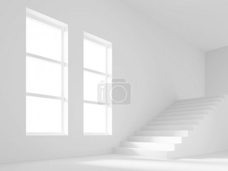 Photo for 3d Illustration of Empty Room with Staircase - Royalty Free Image