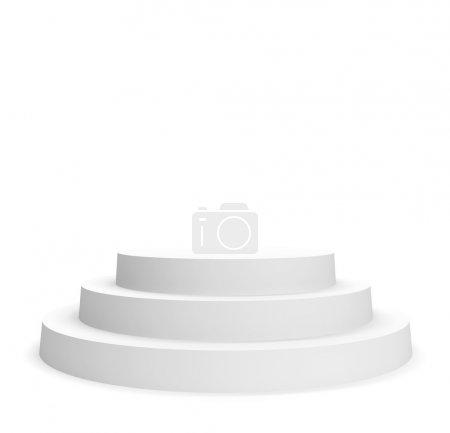 Photo for 3d Illustration of Podium Isolated on White Background - Royalty Free Image