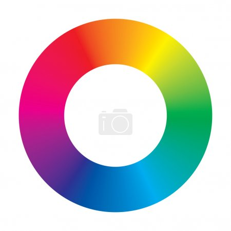 Illustration for Vector color wheel on white background - Royalty Free Image