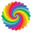 Colorful circle pattern on white background...
