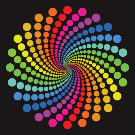 Illustration for Colorful circle pattern - Royalty Free Image