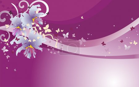 Illustration for Orchid cattleya background in violet - Royalty Free Image