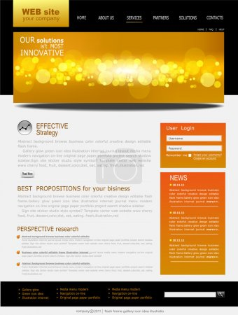 Black and yellow Vector Web site for business