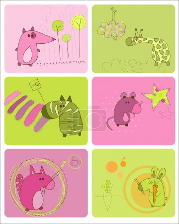 Cute Baby Animals Set of Cards