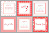 Invitation card template for wedding birthday anniversary in vector