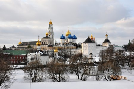 Monastery Troice Sergieva Lavra in Sergiev Posad, Russia.
