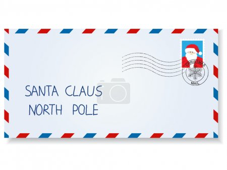 Photo for Letter to santa claus with stamps and postage marks - Royalty Free Image