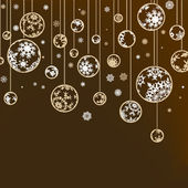 Weihnachten und Neujahr Grußkarte. EPS 8