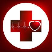 Symbol srdce a tep. EPS 8
