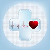 Simbolo cuore e battito cardiaco. EPS 8