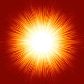 A bright exploding burst over a red background EPS 8 vector file included