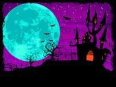 Poster di Halloween con sfondo di zombie. EPS 8
